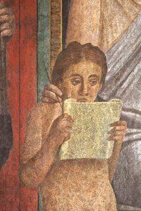 Fig. 2 Pompéi villa des Mystères mur de gauche II det lecture cl. F.P. 5132