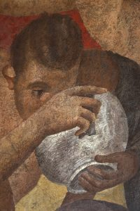 Fig. 5 Pompéi villa des Mystères mur du fond VII det bol cl. F.P. 5269